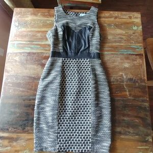 Size 2 Tracey Reese dress with leather details